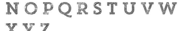 Core Magic Rough 2D Line1 Font UPPERCASE