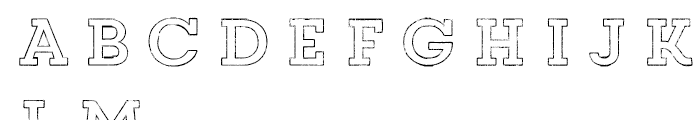 Core Magic Rough 2D Outline Font LOWERCASE