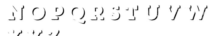 Core Magic Rough 3D Down Font UPPERCASE