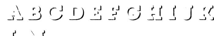 Core Magic Rough 3D Down Font LOWERCASE