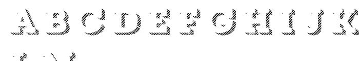 Core Magic Rough 3D Line1 Font LOWERCASE