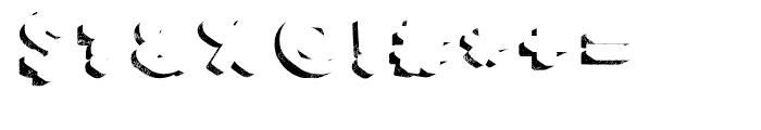 Core Magic Rough 3D Shadow Font OTHER CHARS
