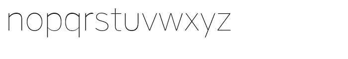Core Sans A 15 Thin Font LOWERCASE