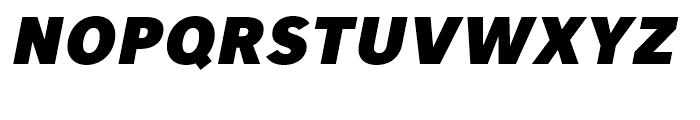 Core Sans A 85 Heavy Italic Font UPPERCASE