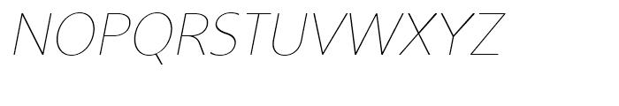 Core Sans BR 15 Thin Italic Font UPPERCASE