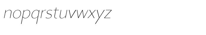 Core Sans BR 15 Thin Italic Font LOWERCASE