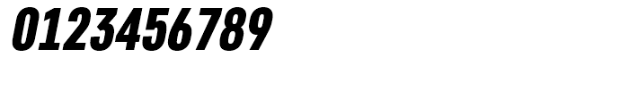 Core Sans D 77 Condensed Black Italic Font OTHER CHARS