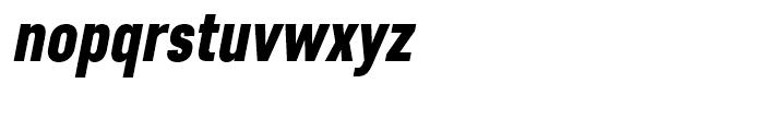 Core Sans D 77 Condensed Black Italic Font LOWERCASE