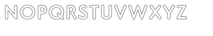 Core Sans G Outline Font UPPERCASE