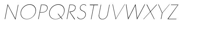 Core Sans GS 15 Thin Italic Font UPPERCASE