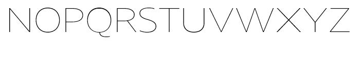 Core Sans N 13 ExtraThin Font UPPERCASE