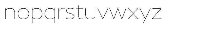 Core Sans N 13 ExtraThin Font LOWERCASE