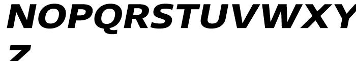 Core Sans N 73 ExtraExtraBold Italic Font UPPERCASE