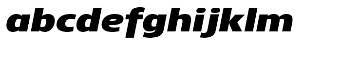 Core Sans N 93 ExtraBlack Italic Font LOWERCASE