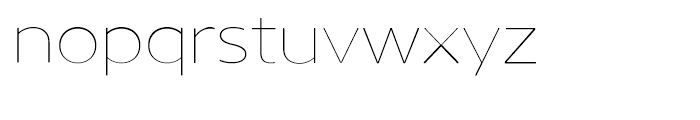 Core Sans N Rounded 13 ExtraThin Font LOWERCASE
