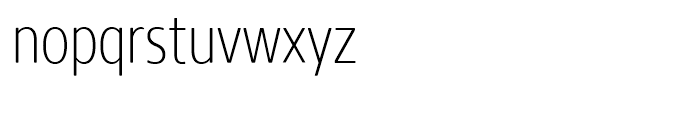 Core Sans N Rounded 27 Condensed ExtraLight Font LOWERCASE