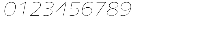 Core Sans N Rounded SC 13 ExtraThin Italic Font OTHER CHARS