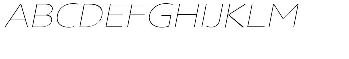 Core Sans N Rounded SC 13 ExtraThin Italic Font UPPERCASE