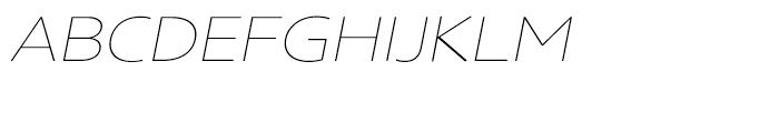Core Sans N Rounded SC 13 ExtraThin Italic Font LOWERCASE