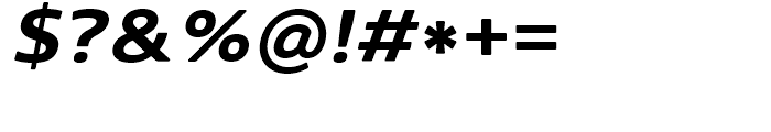 Core Sans N Rounded SC 63 ExtraBold Italic Font OTHER CHARS