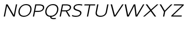 Core Sans N SC 33 ExtraLight Italic Font UPPERCASE
