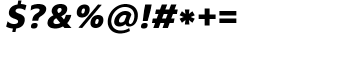 Core Sans N SC 75 ExtraBold Italic Font OTHER CHARS