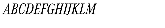 Corporate A Regular Condensed Italic Font UPPERCASE