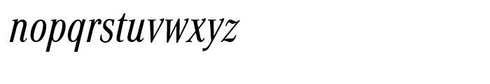 Corporate A Regular Condensed Italic Font LOWERCASE