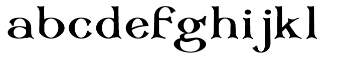 Corsham Black Font LOWERCASE