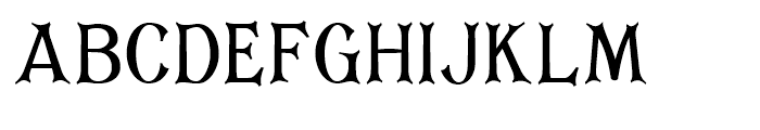 Corsham Condensed Font UPPERCASE