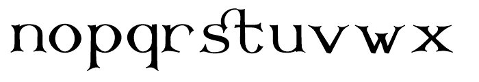 Corsham Regular Font LOWERCASE