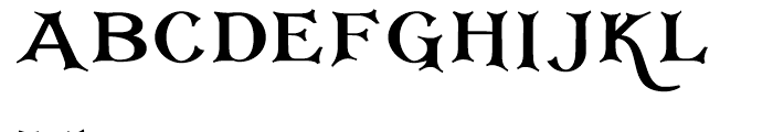 Corton Titular Bold Font LOWERCASE