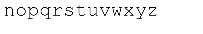 Courier CE Package Font LOWERCASE