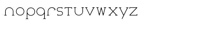 Courier Coco Thin Font LOWERCASE