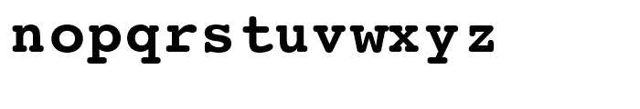 Courier LT round Bold Font LOWERCASE