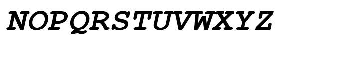 Courier Line Draw Bold Italic Font UPPERCASE