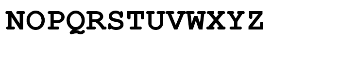 Courier Line Draw Bold Font UPPERCASE