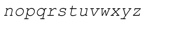 Courier Line Draw Italic Font LOWERCASE