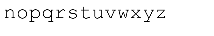 Courier Line Draw Regular Font LOWERCASE