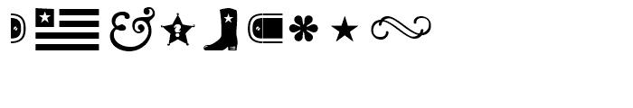 Cowboyslang Ornaments Font OTHER CHARS