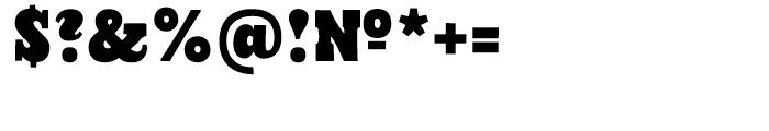 Cowboyslang Regular Font OTHER CHARS