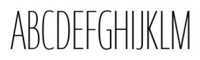 Coegit Compact Thin Font UPPERCASE