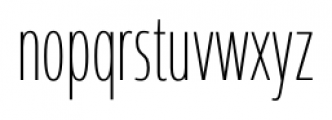 Coegit Compact Thin Font LOWERCASE