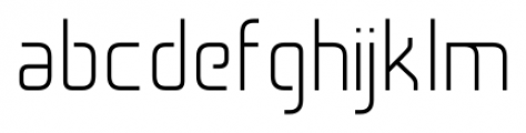 Cogan Straight Light Font LOWERCASE