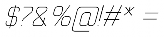 Cogan Straight Thin Oblique Font OTHER CHARS