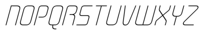 Cogan Straight Thin Oblique Font UPPERCASE