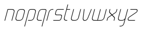 Cogan Straight Thin Oblique Font LOWERCASE