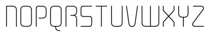 Cogan Straight Thin Font UPPERCASE