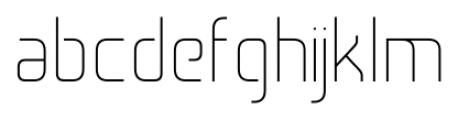Cogan Straight Thin Font LOWERCASE