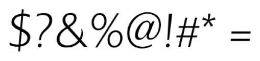 Colosseum Light Italic Font OTHER CHARS